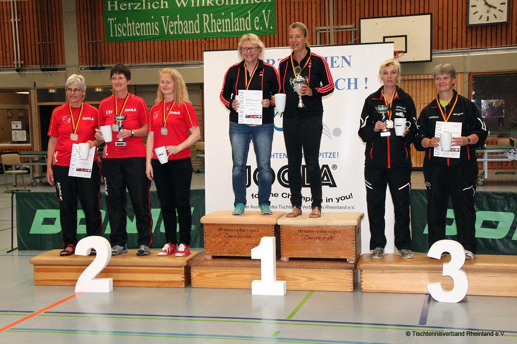 Deutsche Mannschaftsmeisterinnen 2016: Sabine Weichel und Beate Zeyn
